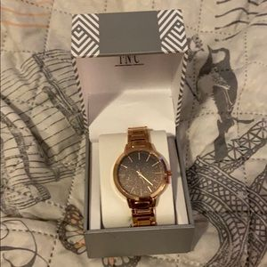 New INC international Concepts rose gold watch